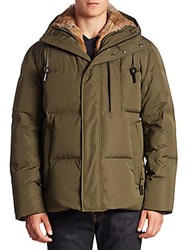 Andrew Marc New York Ascent Hooded Faux Fur Parka Black