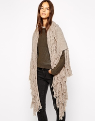 Esprit Chunky Cable Knit Wrap Scarf Toffee