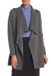 Eileen Fisher Long Angle Front Cardigan Char