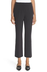Kate Spade Women's New York Flare Leg Crepe Crop Pants Black