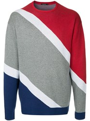 Guild Prime Diagonal Stripes Sweater Multicolour