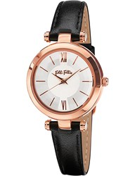 Folli Follie Wf16r009bps_Xx Lady Bubble Mini Rose Gold Plated Stainless Steel And Leather Watch