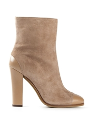 L'autre Chose Round Toe Ankle Boots Nude And Neutrals
