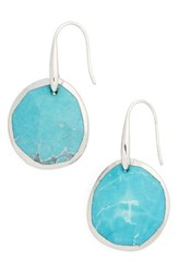Nordstrom Women's Semiprecious Stone Drop Earrings Turquoise Rhodium