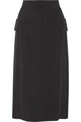 Adam By Adam Lippes Silk Chiffon Paneled Crepe Midi Skirt