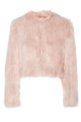 Red Valentino Redvalentino Cropped Faux Shearling Jacket Pastel Pink