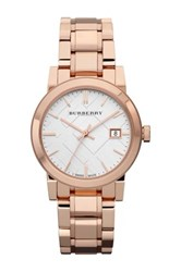 Burberry Women's Rose Gold Stainless Steel Watch Rosegold