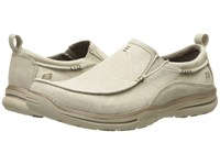 Skechers Relaxed Fit Elected Drigo Stone Canvas Men's Slip On Shoes Khaki