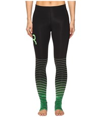 2Xu Elite Recovery Compression Tights Black Green Women's Workout