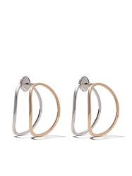Delfina Delettrez 18Kt Rose And White Gold Little Earclipse White And Rose Gold