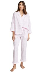 Sleepy Jones Marina Large Gingham Pj Set Pink