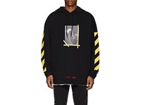Off White C O Virgil Abloh Annunciation Cotton Terry Hoodie Black