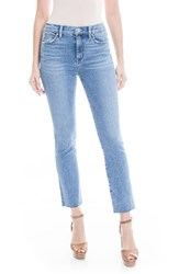 Level 99 Women's Bailey Stretch Fray Hem Straight Leg Jeans