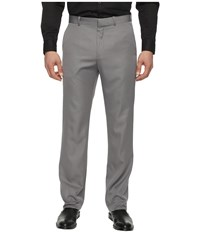 Perry Ellis Solid Performance Portfolio Pant Alloy Men's Dress Pants Gray