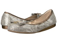 Cole Haan Tali Bow Ballet Gold Silver Glitter Women's Slip On Shoes