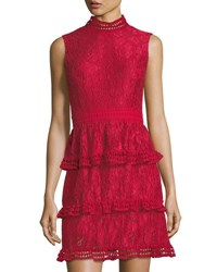 Cynthia Steffe Brea Tiered Lace Dress Pink