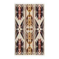 Pendleton Oversized Jacquard Beach Towel White Sands Tan
