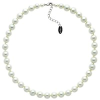Finesse Faux Glass Pearl Necklace Nacre