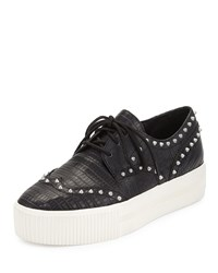 Ash Krush Studded Wing Tip Sneaker Black