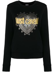 Just Cavalli Logo Print Sweatshirt Black
