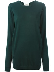 Ports 1961 Long Line Sweater Green