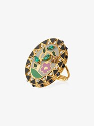Holly Dyment 18K Gold And Diamond Flower Ring Metallic