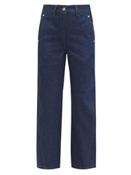 Christophe Lemaire Twisted High Rise Wide Leg Jeans Dark Blue