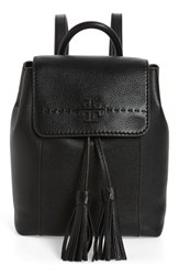 Tory Burch Mcgraw Leather Backpack Black Black Core