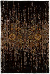 Chandra Spring 29101 Patterned Rectangular Contemporary Area Rug Black