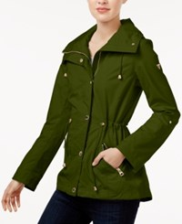 Guess Tab Sleeve Anorak Jacket New Olive