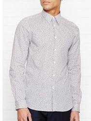 Paul Smith Ps By Monkey Print Long Sleeve Shirt Blue Pink Navy