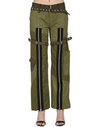 Marques Almeida Patchwork Drill Pants With Zips Green