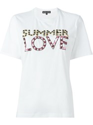 Markus Lupfer Summer Love Embellished 'Kate' T Shirt