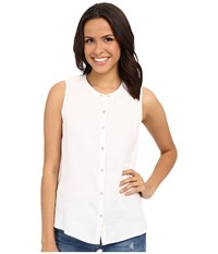 Tommy Bahama Sunset Chambray Sleeveless Shirt White Women's Sleeveless