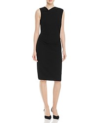 Nicole Miller Asymmetric Cowlneck Dress Black