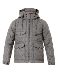 Moncler Harry Quilted Wool Flannel Coat