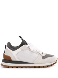 Brunello Cucinelli Ball Chain Embellished Sneakers White