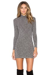 Capulet Long Sleeve Turtleneck Sweater Dress Black And White