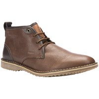 Geox Zal Leather Desert Boots Dark Brown