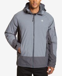 Champion Men's Big And Tall Tech Hooded Snowboard Jacket Stormy Night