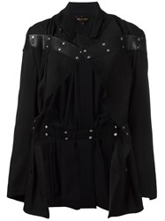 Comme Des Garcons Studded Detailing Fitted Jacket Black