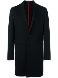 Christian Dior Homme Single Breasted Coat Black