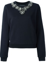 Philipp Plein Embellished 'Diamond' Sweatshirt Black