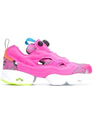 Reebok Cut Off Detailing Sneakers Pink And Purple