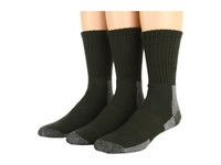 Thorlos Trail Hiking Crew 3 Pair Pack Forest Green Men's Crew Cut Socks Shoes
