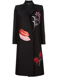 Alexander Mcqueen 'Vanity Obsession' Oversized Coat Black