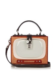 Dolce And Gabbana Box Retro Tv Box Bag Brown Multi