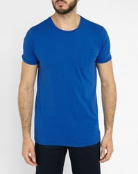 Scotch And Soda Royal Blue Pocket T Shirt