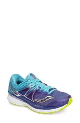 Saucony Women's Triumph Iso 3 Running Shoe Purple Blue Citron
