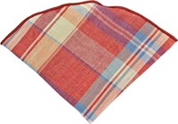 Alexander Olch Plaid Pocket Round Red